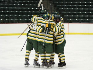 The men's club hockey team opens the 2013 ice hockey season at 7 p.m. Friday, Sept. 13 and 7 p.m. Saturday, Sept. 14 at the Berry Events Center. (NW File Photo)
