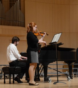 Student recitals include structured performances in the forms of solos and duets during the season. Practices occur every other Tuesday in Hedgcock. (Photo: Kristen Koehler)