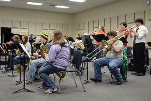 Performance groups, such as the NMU jazz band, use the recital hall for the specific acoustics inside. Student recitals are without an admission fee. (Photo: Kristen Koehler)