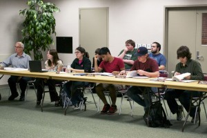 During their Tuesday, Oct. 1 meeting, the ASNMU Academic Affairs board discusses the Women for Women 5k walk event they are co-sponsoring. (Katie Stumman NW)