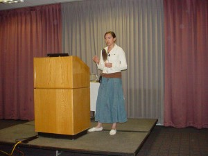 Bay Indian Community citizen and Yale School of Forestry and Environmental Studies graduate Jessica Koski presents at the 2010 Summit. (Photo courtesy of the Center for Native American Studies)
