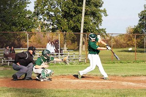 Sophomore first baseman Mitchell Parker is in his ninth year of baseball. (Courtesy of club baseball)