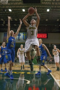 Junior guard Alyssa Colla hit the 1,000-point mark during the 2013-14 basketball season for the 'Cats.