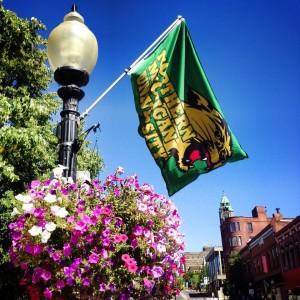 NMU flag photo Courtesy Downtown development