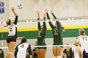 The NMU volleyball team will wrap up their four-weekend spring schedule this weekend when the 'Cats will host an NMU alumni team, Michigan Tech and LSSU beginning at 12 p.m. Saturday, April 11 in Vandament Arena. (Anthony Viola/NW)