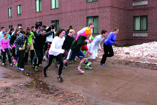 Nearly naked: Weber State students strip down and run for
