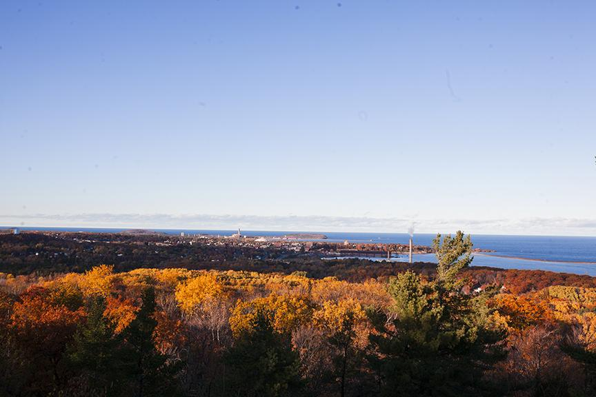 View from Mount Mesnard overlooking the city of Marquette.
